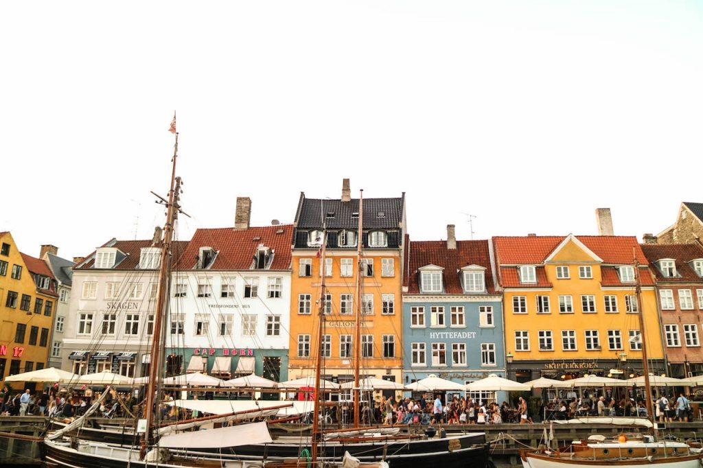 porto de Nyhavn em Copenhague