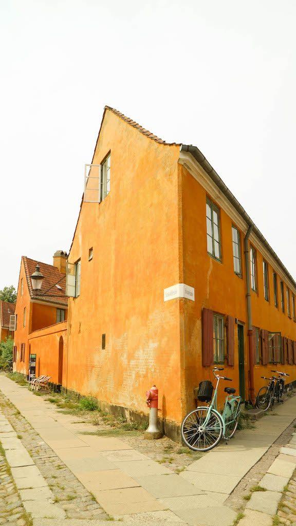casas amarelas em Nyboder, Copenhague